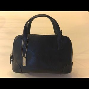 Coach Leather Navy Bag